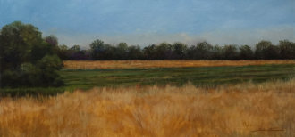 One Day in Summer No 5, Acrylic on Canvas, 15x30, Sold