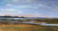 Along the Indian River Bay, Acrylic on Canvas, 30x54, NFS